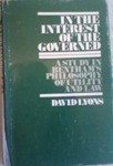 In the Interest of the Governed: A Study in Bentham's Philosophy of Utility and Law